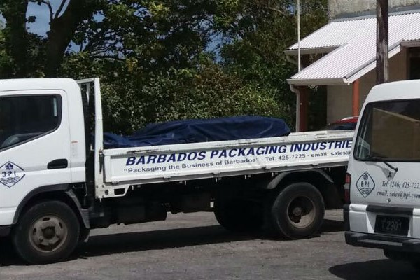 barbados packaging Industries delivery truck